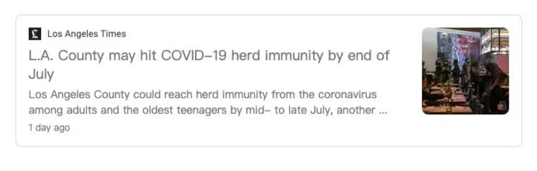 加州疫情控制稳定,洛杉矶县/湾区实现群体免疫!6月中旬或可重启!